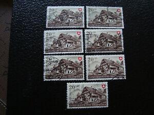 Switzerland-Stamp-Yvert-and-Tellier-N-479-x7-Obl-A15-Stamp-Switzerland