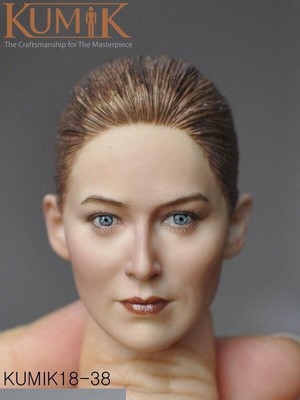 1 6 KUMIK KM18-38 Beauty European Female Head Caving Caving Caving Fit 12'' Action Figure 04dd9a