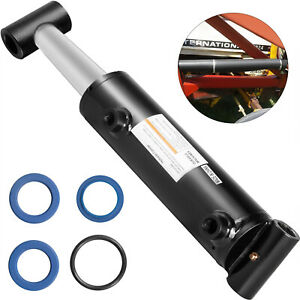 Hydraulic-Cylinder-Welded-Double-Acting-3-034-Bore-6-034-Stroke-Cross-Tube-3x6-SAE8