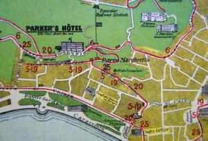 PARKER\'S HOTEL NAPLES ITALY SOUVENIR TOURIST\'S CITY MAP GUIDE 1920s ...