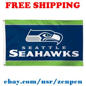 Deluxe-Seattle-Seahawks-Team-Logo-Flag-Banner-3x5-ft-NFL-Football-2019-NEW