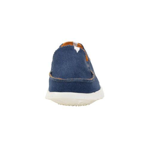 Dude Shoes Farty Kids Sea Blue Slip On Mule