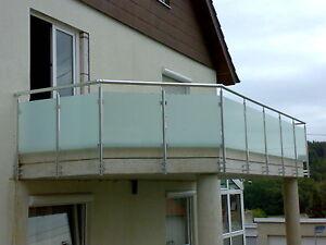 Balkongelander Glas Aluminium Balkon Gelander Vsg Glas Ebay