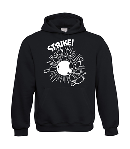 Men-039-s-Hoodie-I-Hoodie-I-Bowling-Strike-I-Funny-I-Patter-I-to-5XL