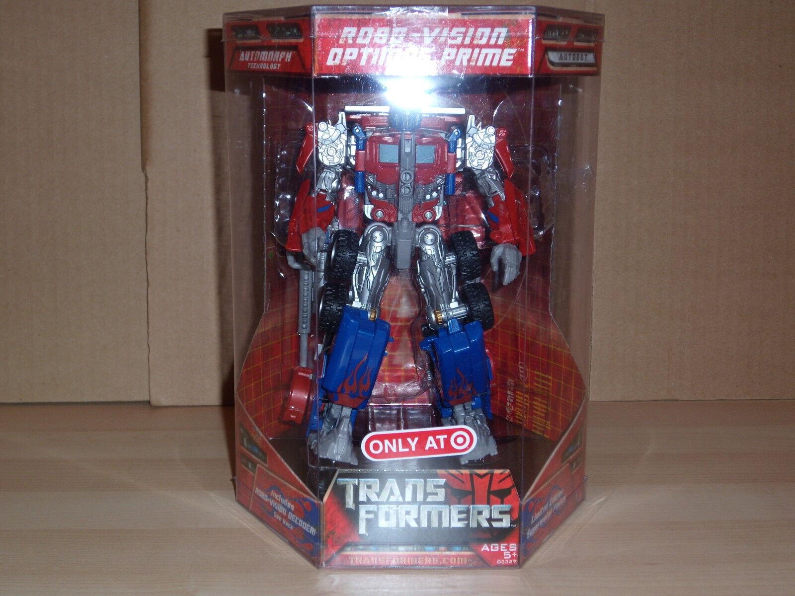Transformers Robo-Vision Optimus Optimus Optimus Prime Target Exclusive Movie 2007 af0159