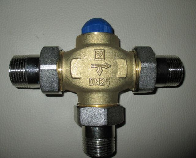 Herz  thermostatisch regelbares 3-Wege-Mischventil Dn 25 PN 16 Festwertregler