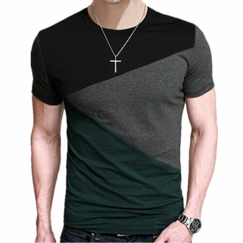 Moda Camiseta De Manga Corta De Algodón Para Hombres Casual Verano Elegante Lujo