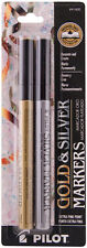 Pilot Gold and Silver Metallic Permanent Paint Markers Extra Fine Point 41400