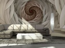 Mural Wallpaper 366x254cm Photo Wall Swirls Abstract Design For Bedroom Beige For Sale