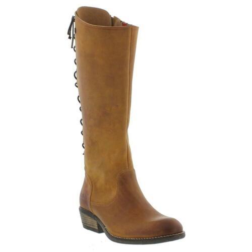 Oak /& Hyde Rita Hi Cognac Womens Premium Leather Casual Stylish Calf Boots
