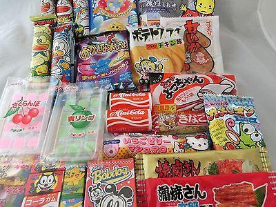 Japanese Food 30pcs Dagashi Okashi Candy Gum Snack Selection Set Free shipping