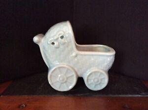 Vintage McCoy Blue Baby Planter Vase Made in USA