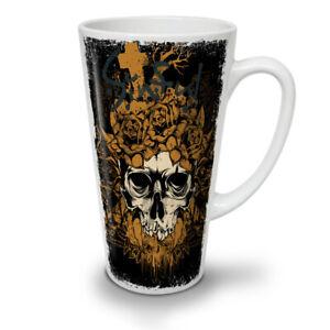 Rose Cross Dead Skull NEW White Tea Coffee Latte Mug 12 17 oz   Wellcoda