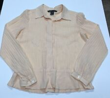 Marc Jacobs peach ribbed shirt Womens 10 100% Cotton