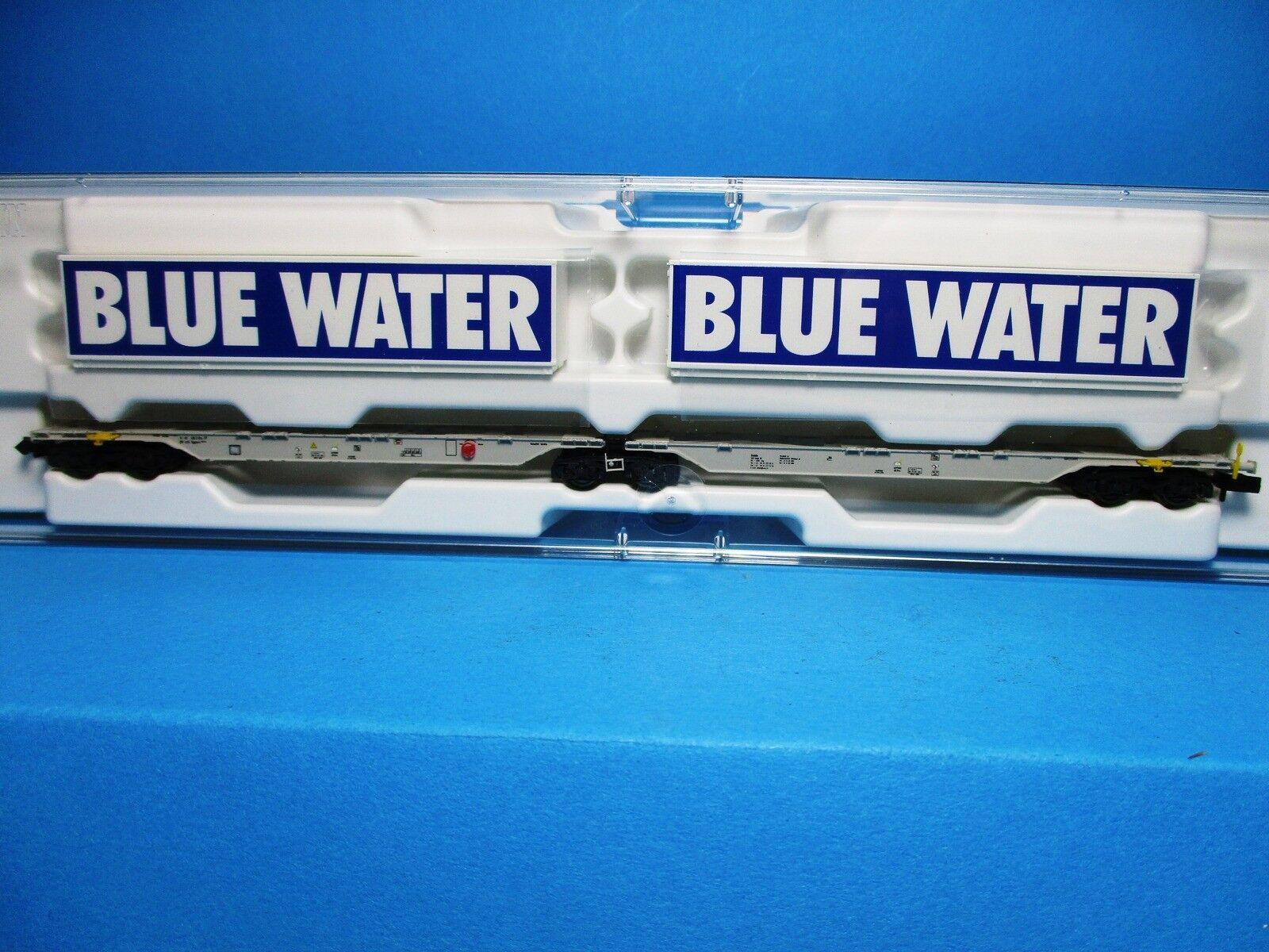 Fleischmann 825326k AAE doppio contenitore carrello portante blu Water, NUOVO, OVP, M 1:160,