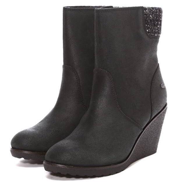 Lacoste Lazaret 2 SRW Ankle Boots Shoes boots black leather NEW Nubuck leather