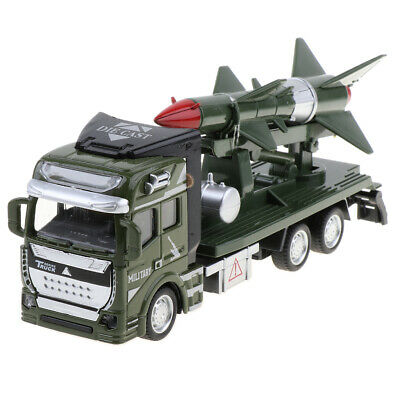 1 48 Pull Back Military Car Friction Power Missile Rocket Truck Toy For Kids