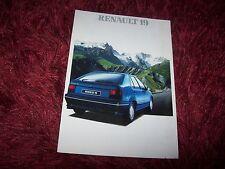 Prospectus /  Brochure RENAULT 19  1989 / 1990 //