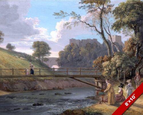 ROSLIN CASTLE MIDLOTHIAN SCOTLAND PAINTING SCOTTISH HISTORY ART CANVAS PRINT
