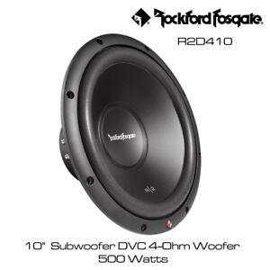 Rockford-Fosgate-Prime-R2D410-10-034-Subwoofer-DVC-4-Ohm-500-vatios-WOOFER