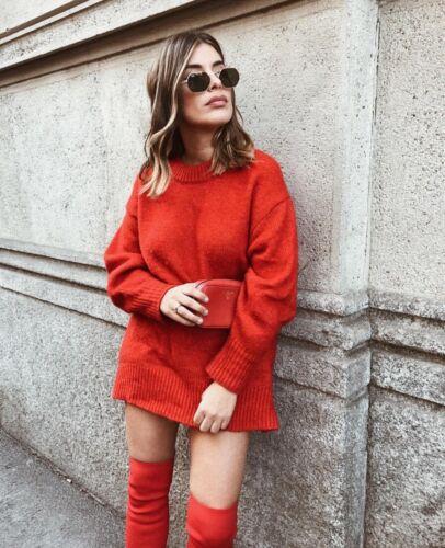 Sz De Nwt Avec Dos Maxi 010 M Tricot Zara Noeud 6873 Rouge Au Un Noël Pull S En wwavqgA