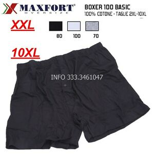 INTIMO UOMO MAXFORT 6 MUTANDE UOMO TAGLIE FORTI BOXER VITA ALTA 2XL ... a46f3728a73