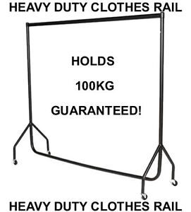 6ft-Heavy-Duty-Garment-Clothes-Dress-Hanging-Display-Market-Rail-Steel-Rack