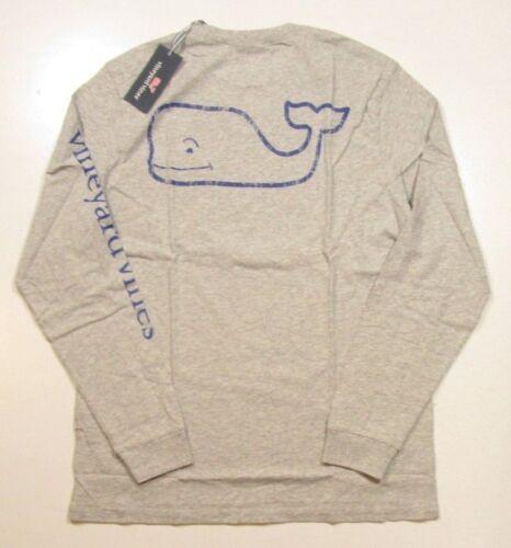 Wijngaard Pocket shirt T grafische Heather Whale Ls Vintage heren grijs wijnstokken 8ZNOkX0nwP