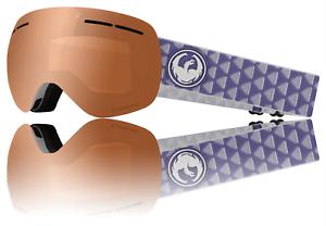 Dragon Alliance X1's SN-17070 orange + Smoke Lumalens Snowboard Ski Goggles