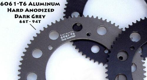 KART MASTER 6061-T6 ALUMINUM  1-PIECE #219 GREY GO KART RACING SPROCKET