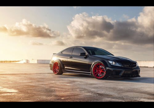 C63 AMG BLACK EDITION NEW A3 CANVAS GICLEE ART PRINT POSTER