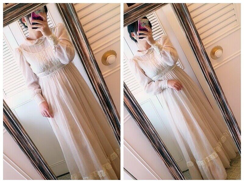ASIS RARE vintage GUNNE SAX floral  Prairie dress… - image 6