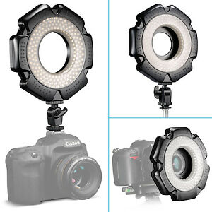 Neewer-160-PCS-LED-Mini-Macro-Ring-Light-5600K-10W-with-6-Adapters-for-DSLRs