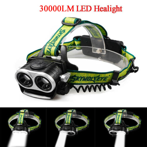 350000Lumens 2x T6 LED Rechargeable 18650 Headlamp Headlight USB Head Torch Lamp