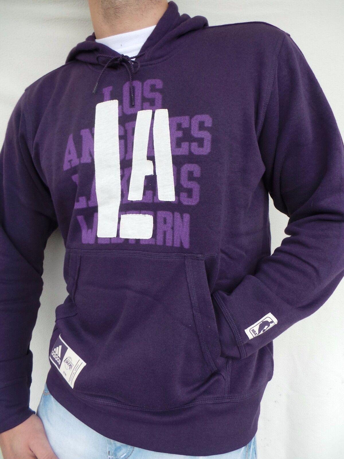 Adidas NBA La Lakers Hoodie Sweatshirt Hoody Jumper Purple SIZE S