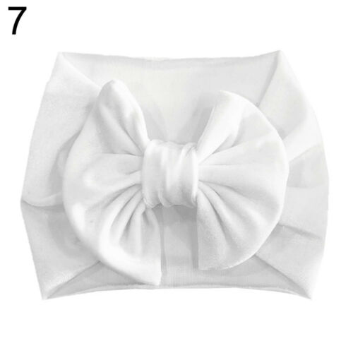 EE/_ AU/_ Toddler Baby Girl Big Bowknot Headband Pleuche Solid Elastic Hair Band S