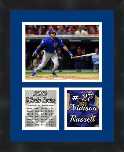 Chicago Cubs Addison Russell Póster Enmarcado Collage de Fotos ...