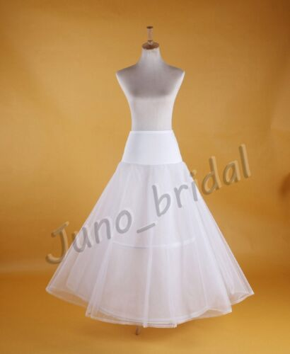 Wedding Bridal A Line Hoop White Prom Petticoat Crinoline Underskirt Slip