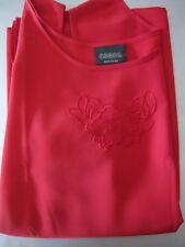 Bluse, Shirt, Achselshirt Gr. 52, Canda, Rot, dünn, locker,bestickt, neuwertig,
