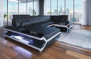 Wohnlandschaft Leder Couch Ecksofa Design Sofa Luxus Sofa ...