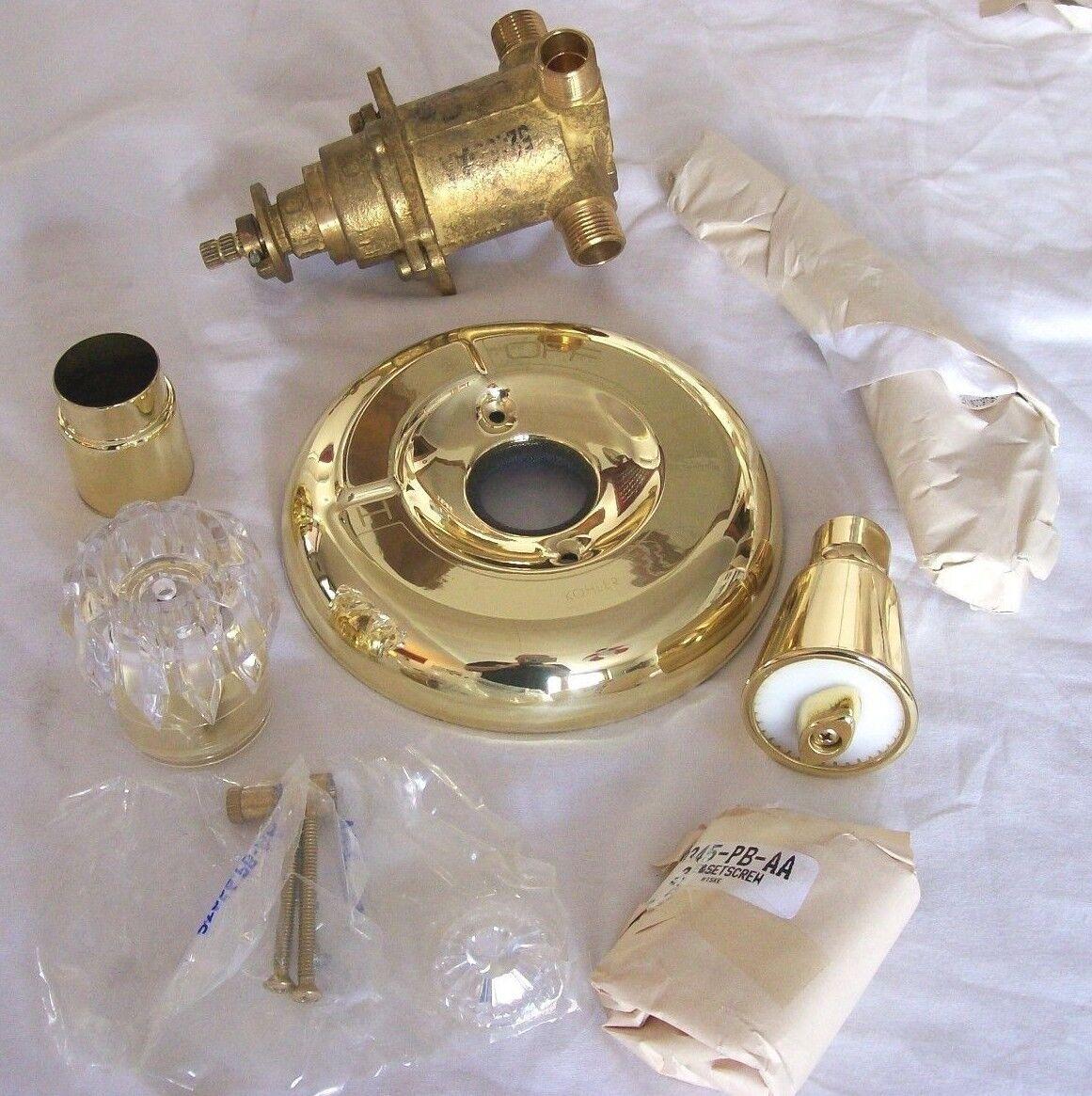 Kohler Single Handle Shower Faucet Polished Brass 6215 Pb Brass Rite Temp Valve