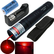 Powerful Red Laser Pointer 1mw 532nm Pen Light 850 Beam + Charger + Battery