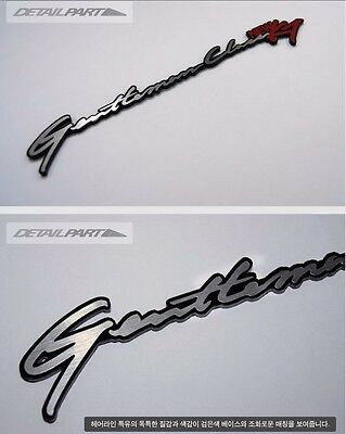 Detail Part acrylic Slim Emblem 1EA Black Hairline Silver For Hyundai Santa Fe