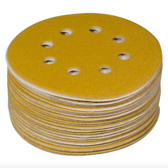 Gator 50-Pack 60-Grit Commercial 8-Hole Hook and Loop Sanding Disc Sandpaper