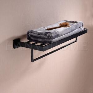 Image Is Loading Stainless Steel Bathroom Towel Rail With Rack Bath