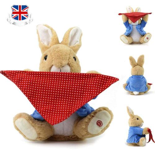 Peter Bunny Peek a Boo Plush Rabbit Hide and Seek Stuffed Music Baby Toy Gift UK