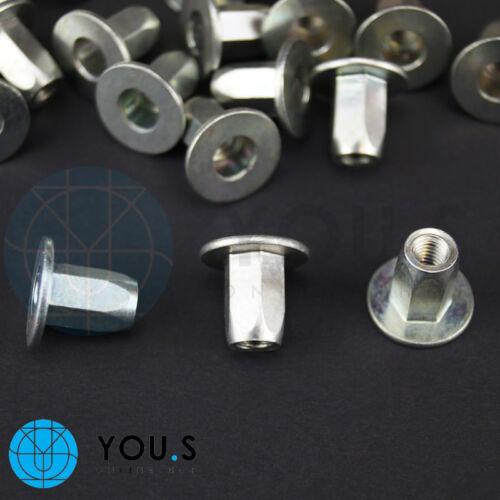 10 Stück Kotflügel Befestigungs Metall Muttern für LANCIA Y 46417286