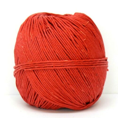 1mm Polished Hemp Twine Red 20lb test 400/' Cord Macrame Jewelry String