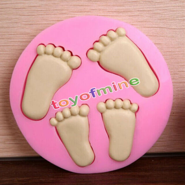 3D Baby Feet Silicone Fondant Mould Chocolate Cake Clay Soap Mold Baking87