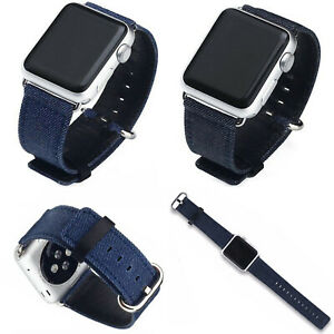 Sport Jeans Fabric Watch Band For Apple Watch Series 5 4 3 2 38 40 42 44mm Strap Ebay